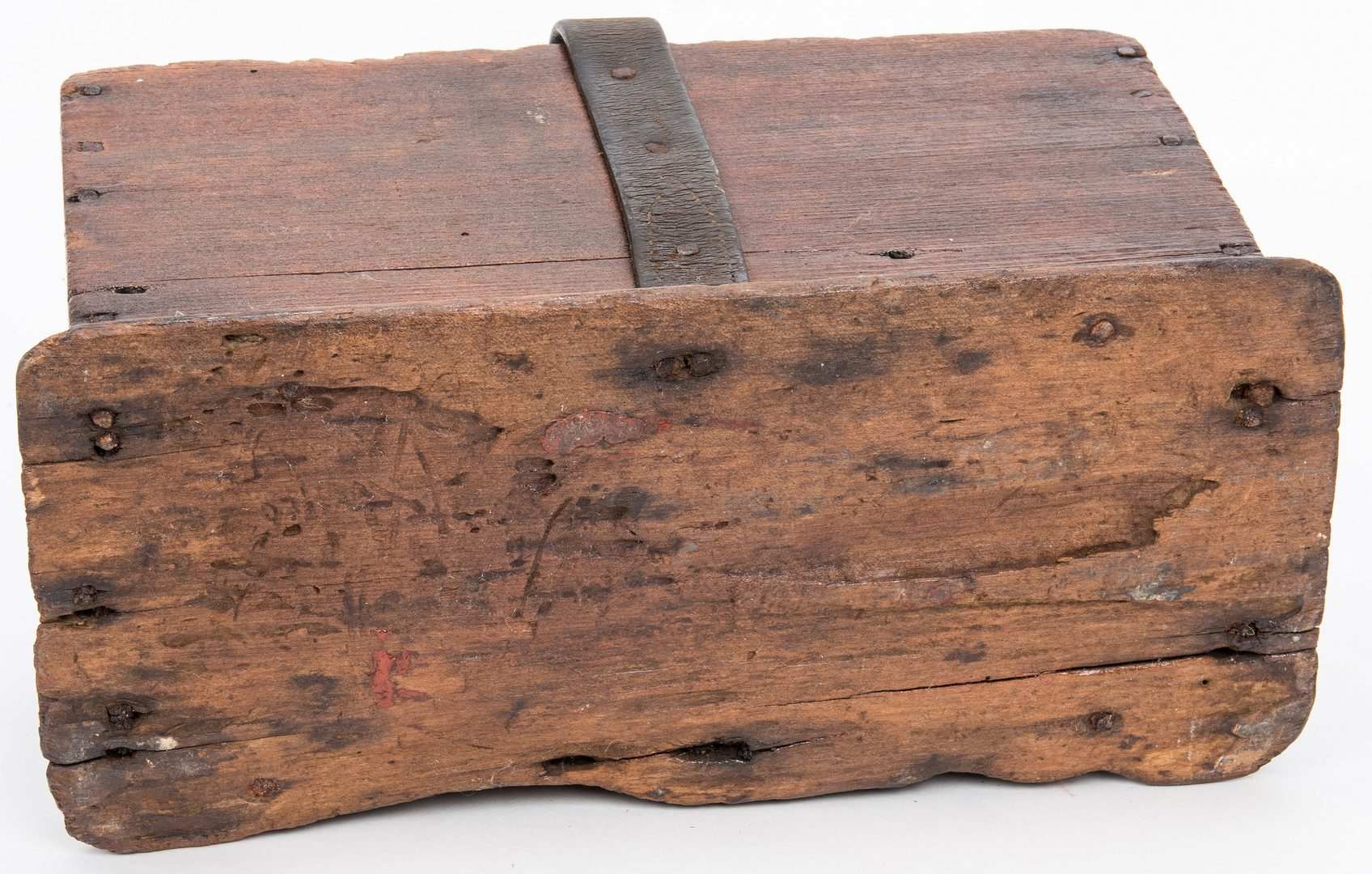 Lot 364: 3 Southern Wooden Items, Dough Bowls & Tool Box