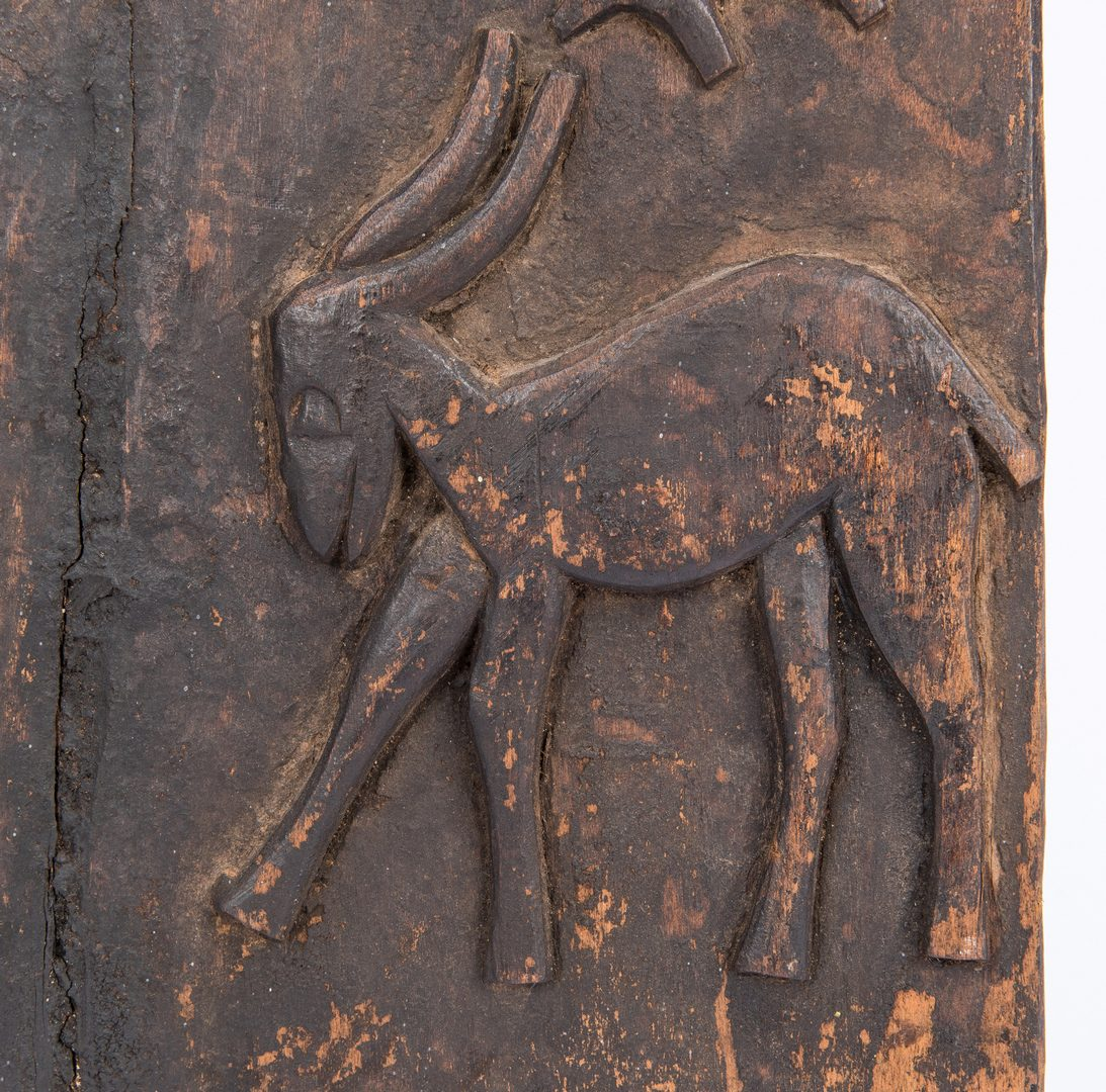 Lot 373: Senufo People, African Ivory Coast Carved Granary Door