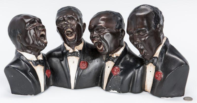Lot 376: Black Americana Figural Group of Singers