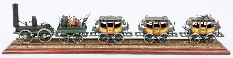Lot 379: Mechanical Scale Model Dewitt Clinton Passenger Train
