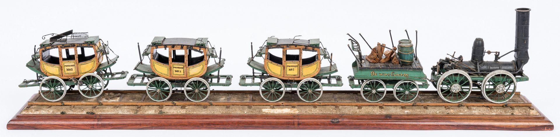 Lot 379: Mechanical Scale Model Dewitt Clinton Passenger Train