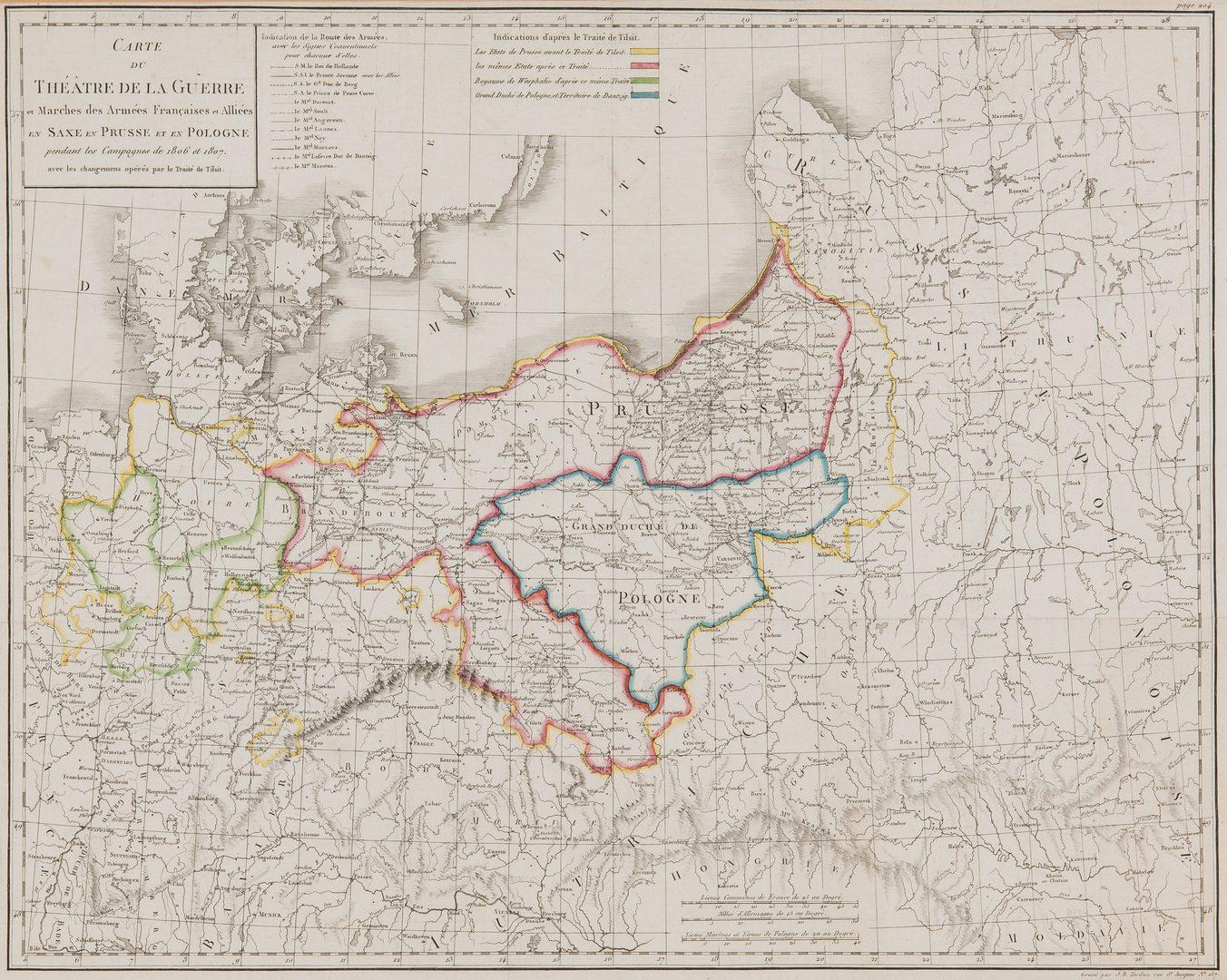 Lot 382: 2 Maps, incl. Napoleonic Theatre de la Guerre, Middlesex