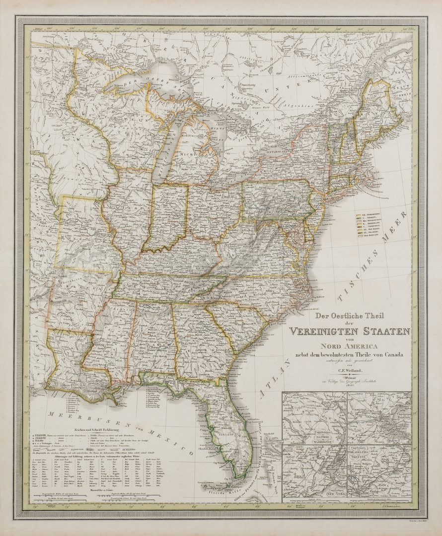 Lot 383: 2 North America Maps, incl. Weiland, Walker