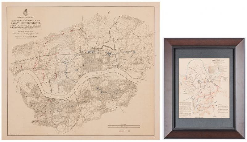 Lot 384: Pair of Maps: Knoxville Confederate & Nashville