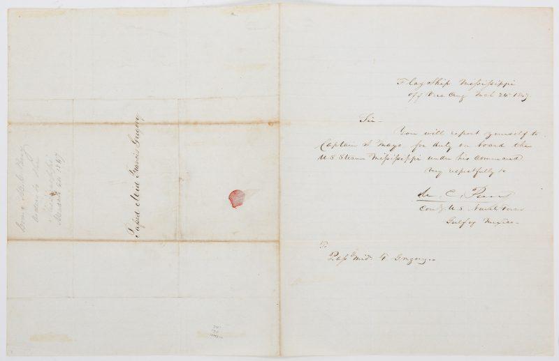 Lot 388: Matthew Calbraith Perry Mexican-American War ALS, 1847