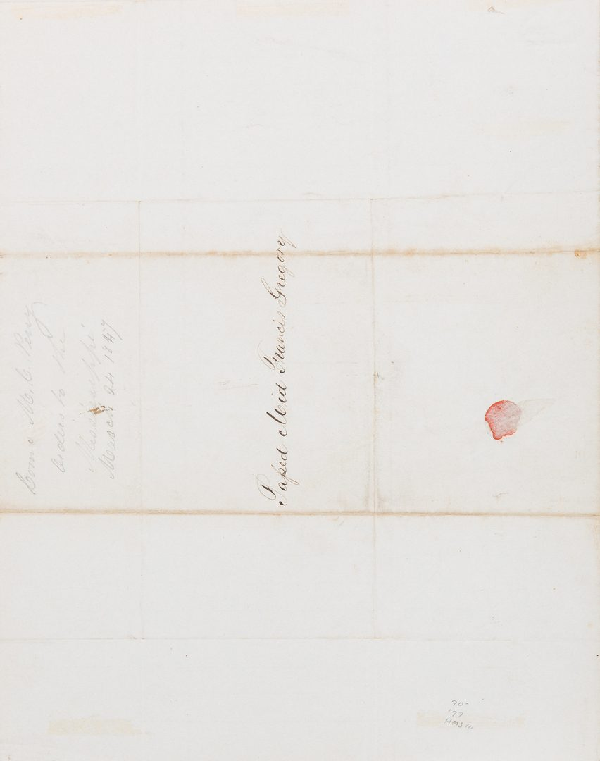 Lot 388: Matthew Calbraith Perry Mexican-American War ALS, 1847
