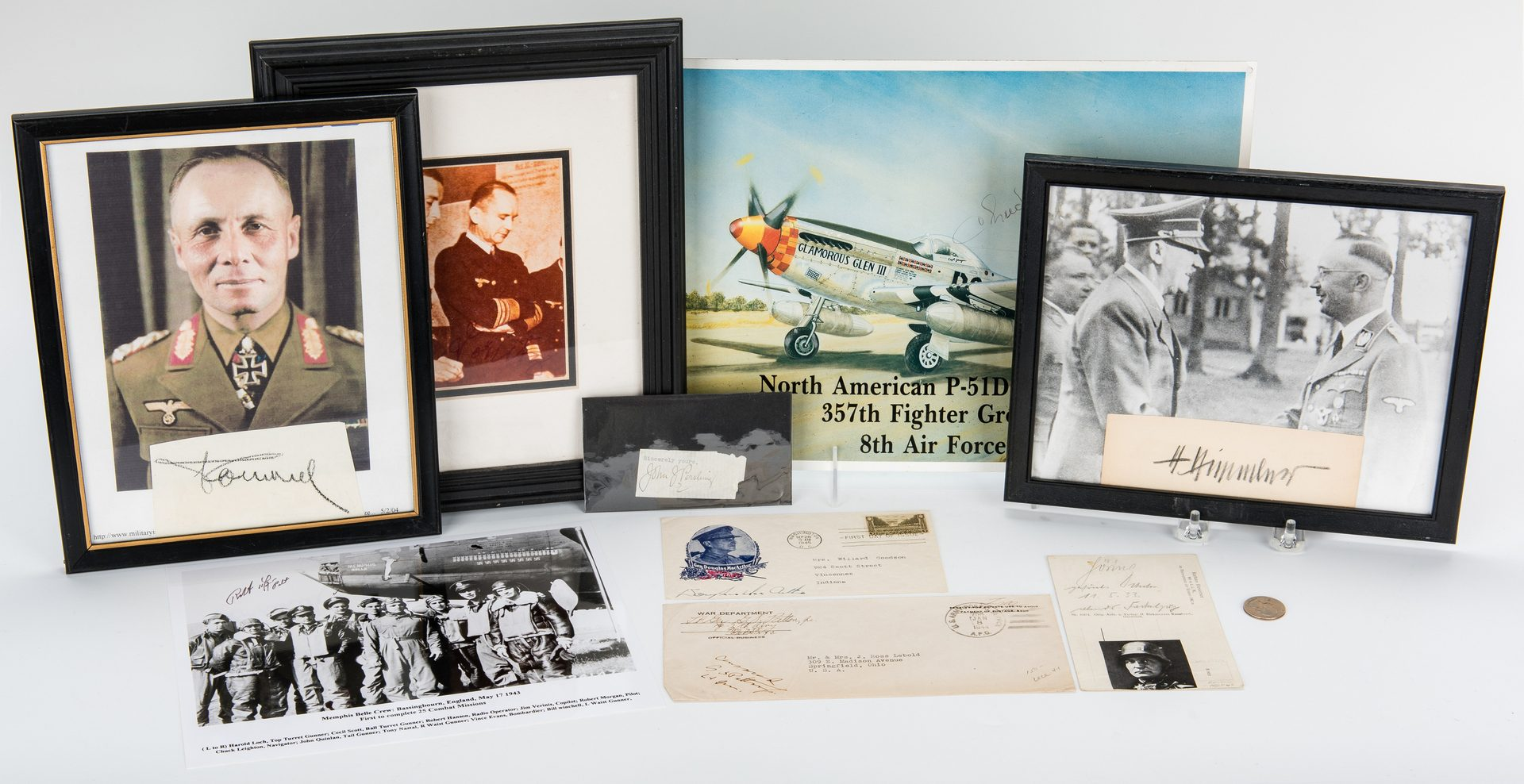 Lot 391: 20th C. Military Autograph Collection