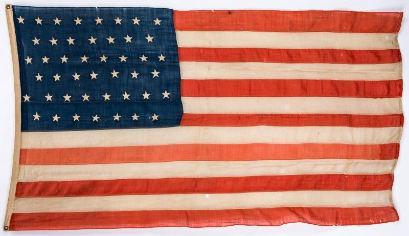 Lot 393: Spanish American War Era 45 Star American Flag