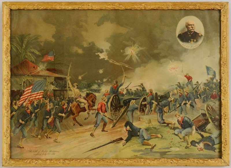 Lot 394: Spanish American War Lithograph