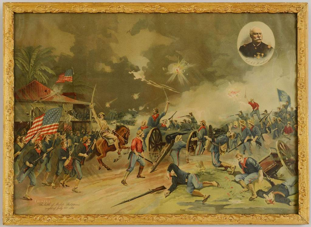 Lot 394: Spanish American War Lithograph