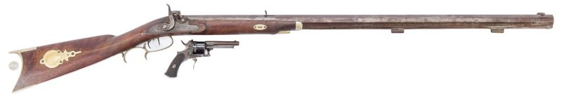 Lot 397: 2 19th Cent. Firearms, incl. J. H. Johnston & G. Mercenier