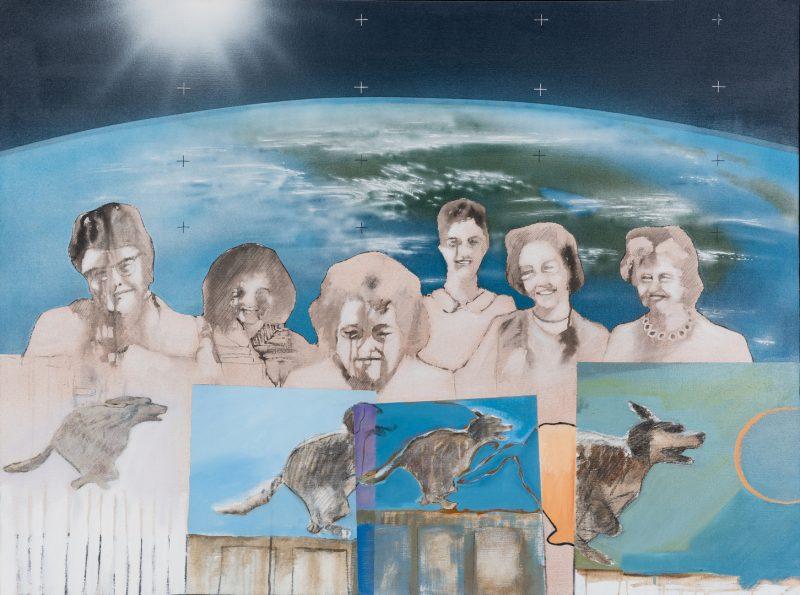 Lot 405: Darryl Halbrooks Acrylic on Canvas, Anyone's Mother
