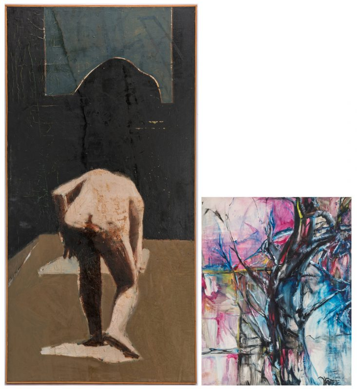 Lot 406: 2 Expressionist Paintings: Williams and Wolfe