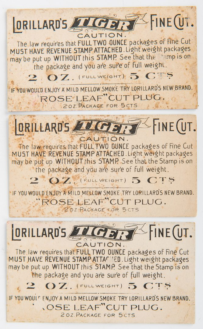Lot 413: Large Collection of 410 Tobacco Trade Cards
