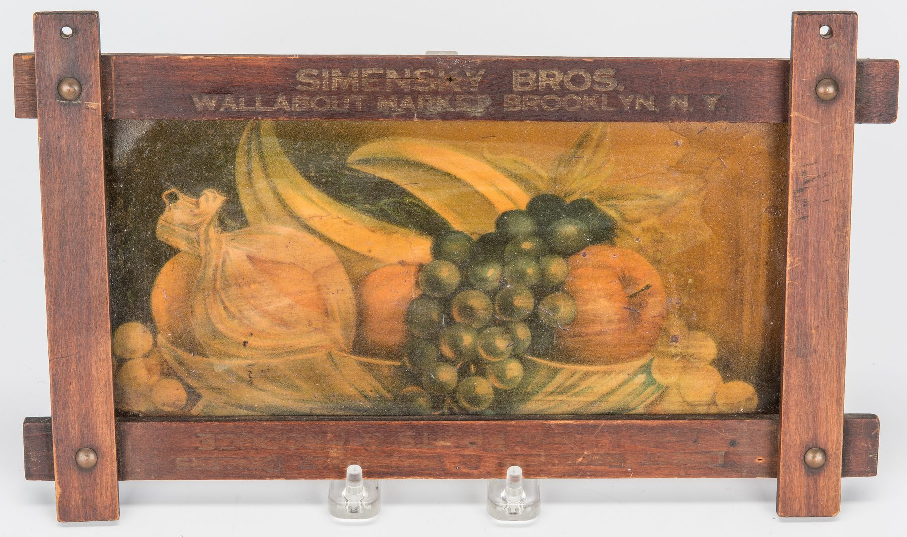Lot 414: 5 Late 19th/Early 20th Cent. Commercial Signs, incl. Brooklyn Produce