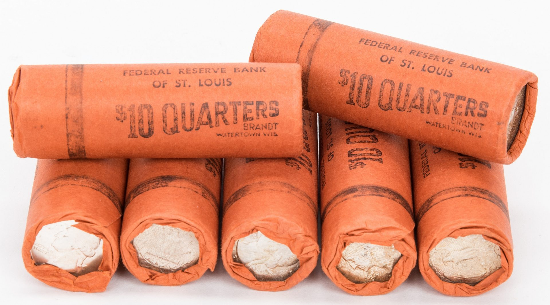 Lot 418: 13 Rolls of Unc. Half Dollars and Quarters