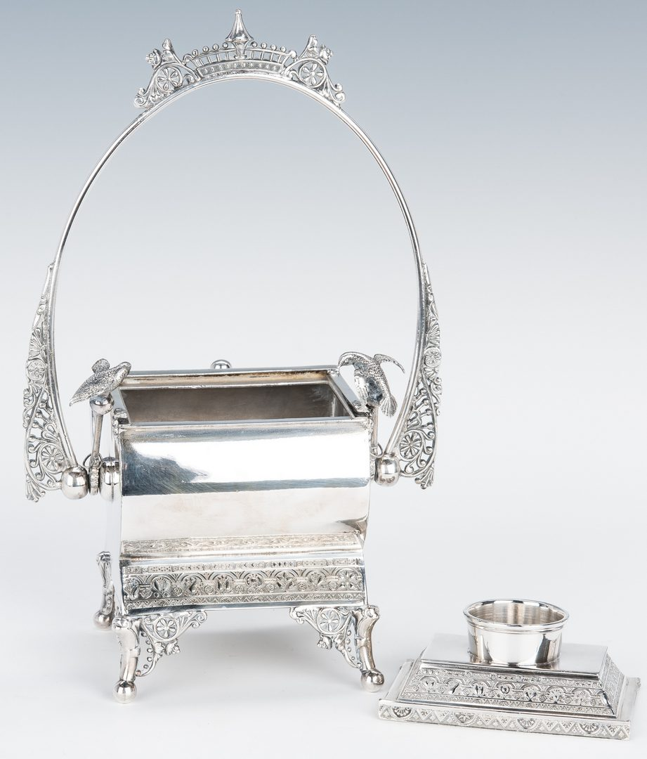 Lot 423: 3 Victorian Silverplated Table Items