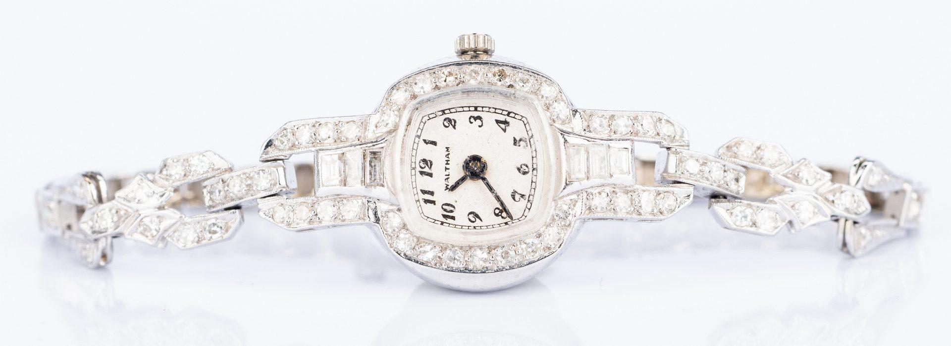 Lot 46: Art Deco Waltham Diamond Watch