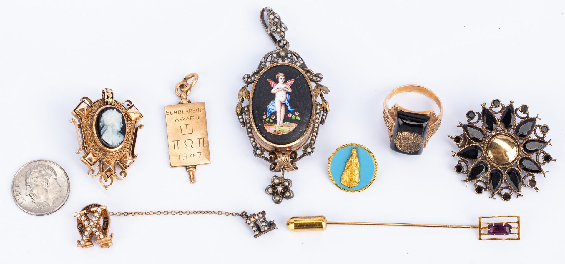 Lot 54: Group Victorian and Vintage Jewelry, 8 items
