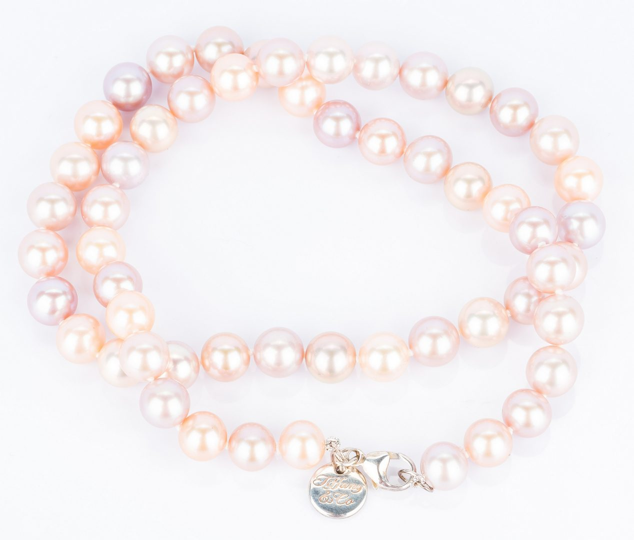 Lot 56: Iridesse by Tiffany & Co. SS & Pearl necklace