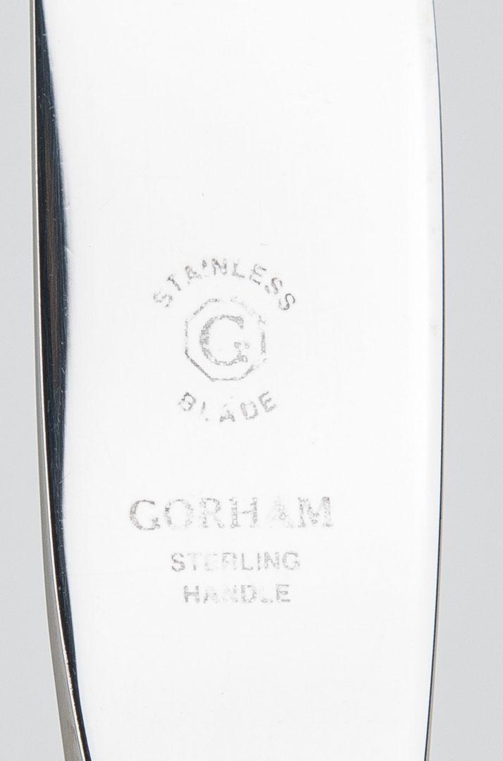 Lot 61: 132 pcs. Gorham Chantilly Sterling Flatware