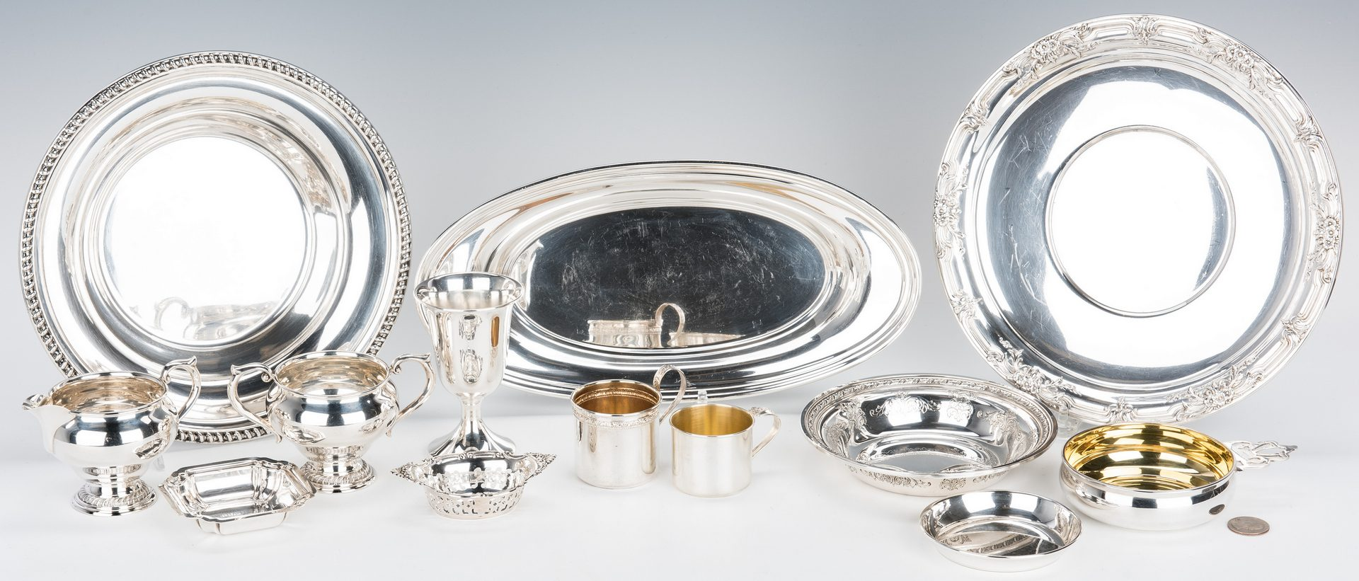 Lot 64: 13 pcs. Assorted Sterling Table Items