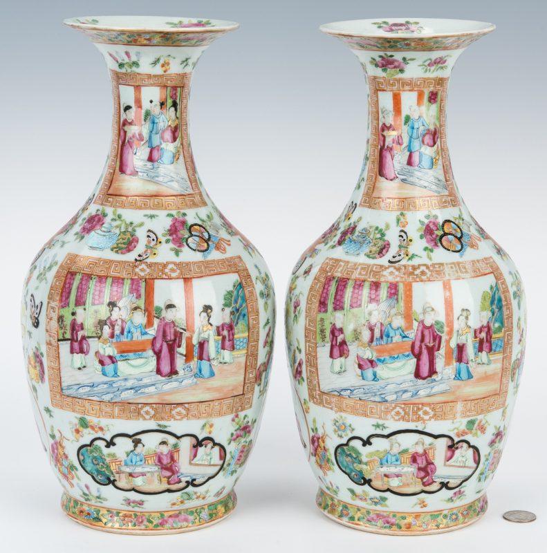 Lot 6: Pr. Chinese Famille Rose Porcelain Vases