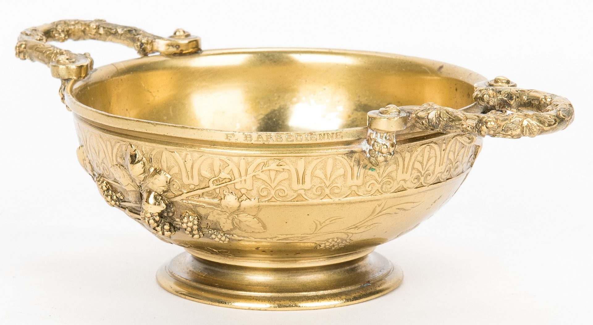 Lot 76: 3 Bronze Items, incl. F. Barbedienne Cup