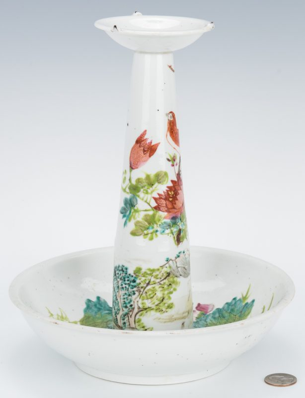 Lot 7: Chinese Porcelain Candle Stand