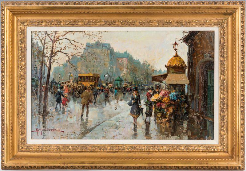 Lot 81: Antonio Gravina O/B Painting, Paris
