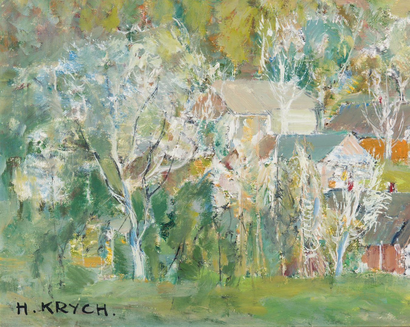 Lot 82: Henryk Krych O/C Painting, Impressionistic Landscape