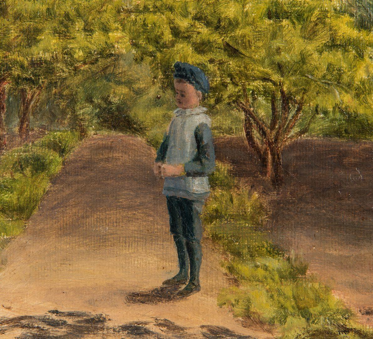 Lot 84: Attr. Frank Walton O/C, In the Orchard