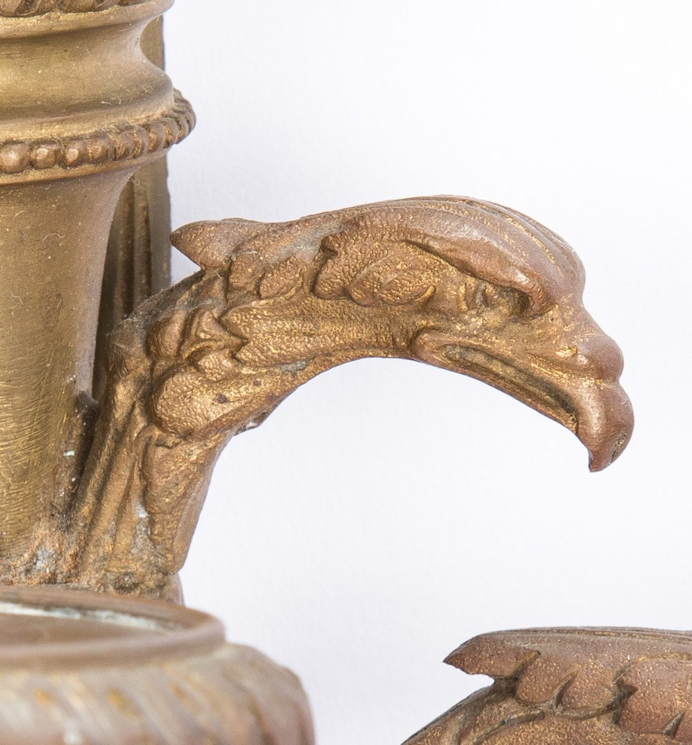 Lot 86: Neoclassical Eagle Bronze Wall Sconce