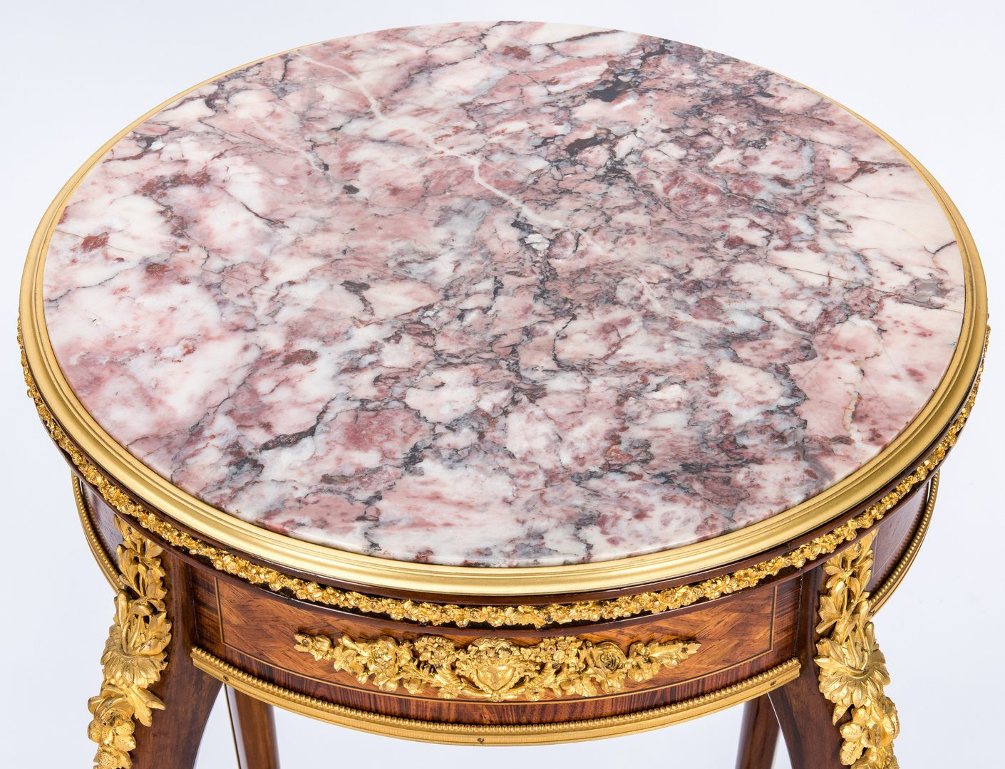 Lot 91: Pair French Marble Top Stands