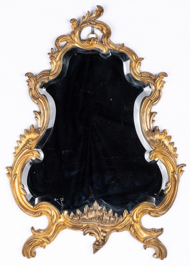 Lot 94: Three Rococo Style Wall Mirrors & 1 Wall Sconce, 4 items
