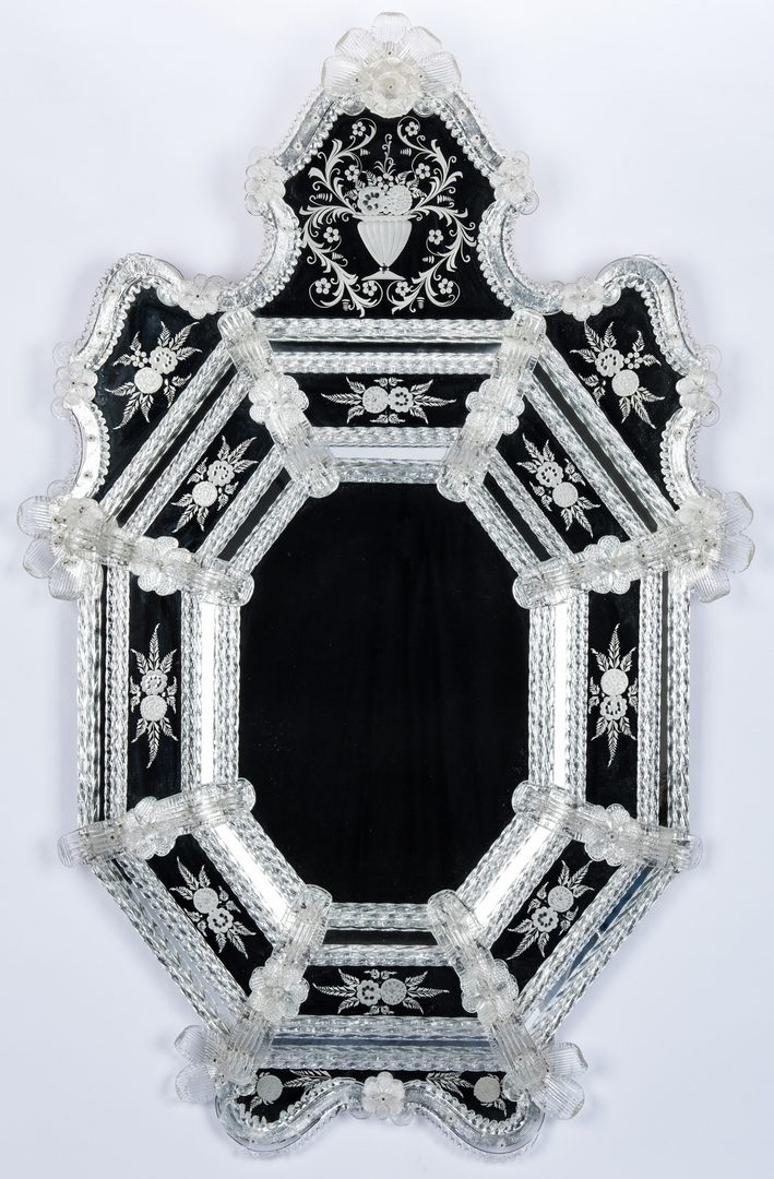 Lot 96: Venetian Style Etched Glass Mirror