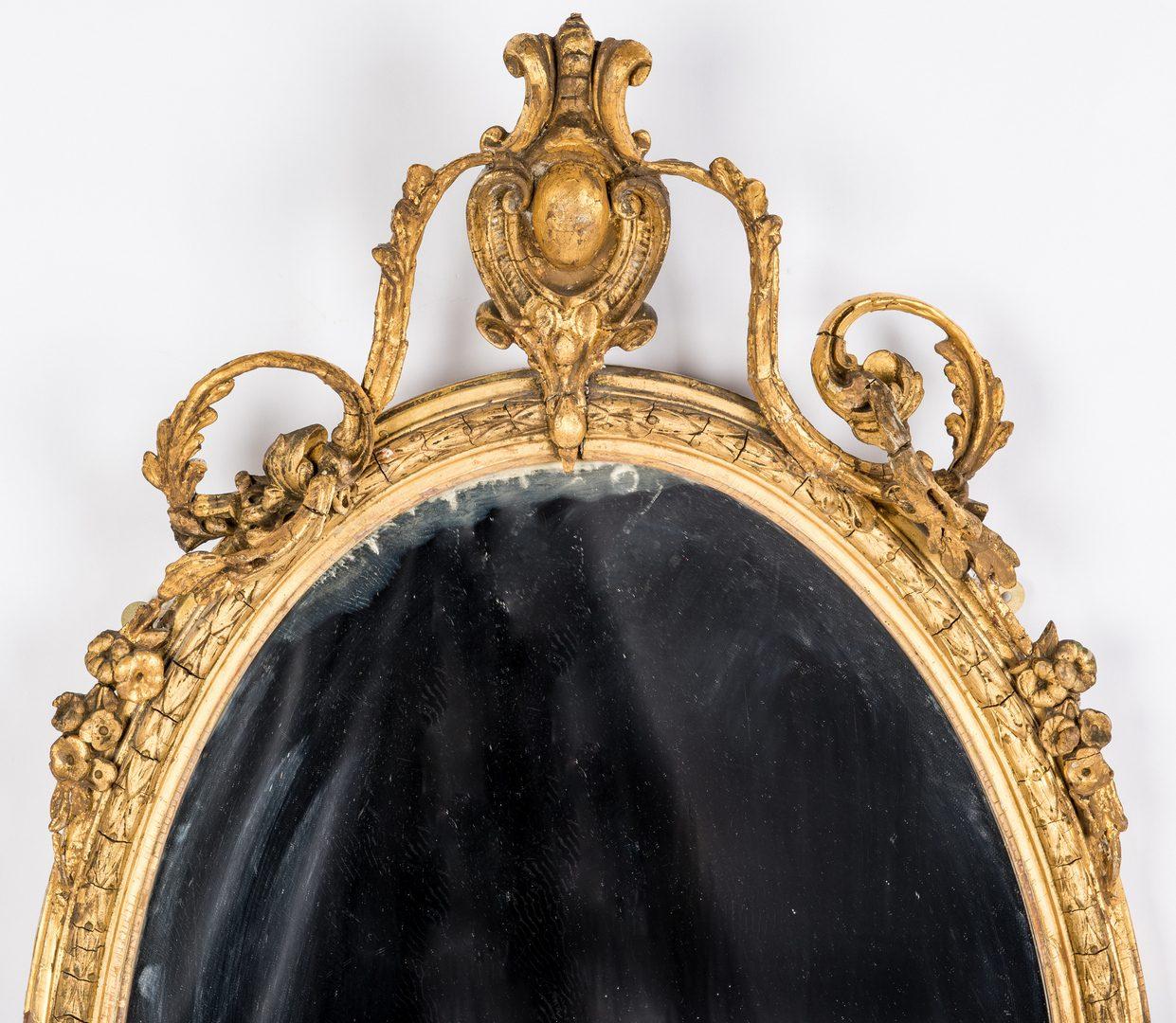 Lot 98: Gilt Rococo Girandole Mirror