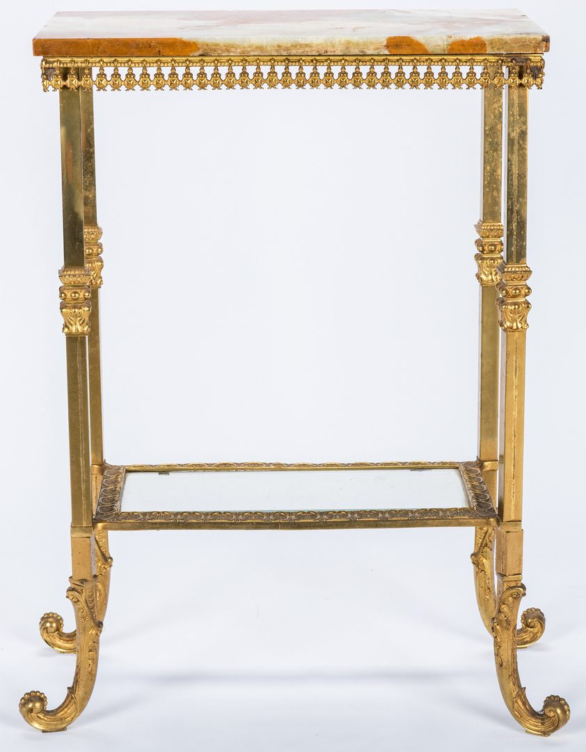 Lot 99: Continental Gilt Bronze Console Table w/ Marble Top
