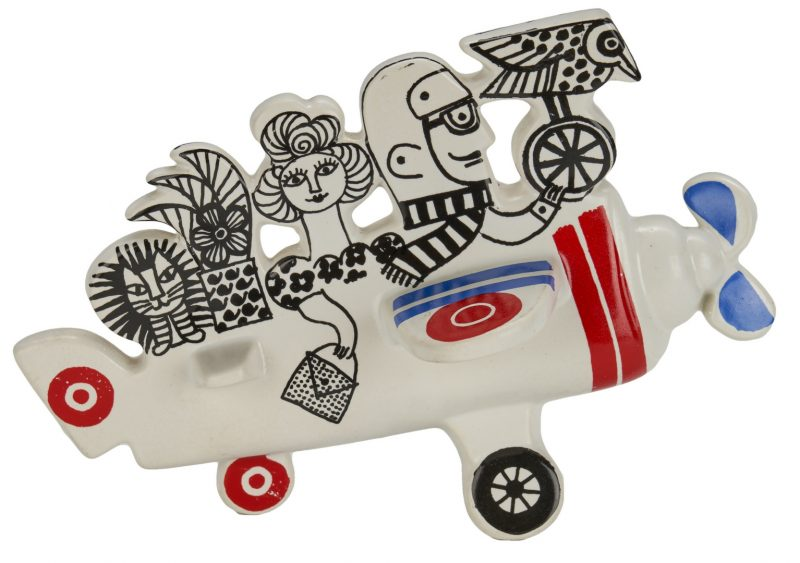 Lot 1000: Lisa Larson Mid-Century Ceramic Airplane