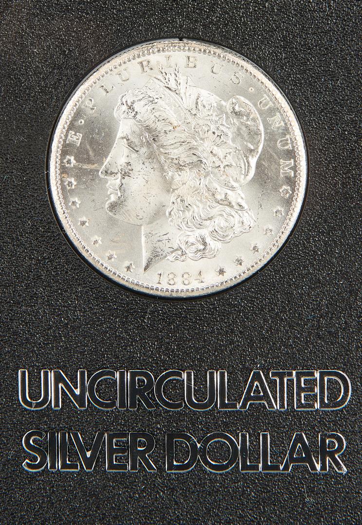 Lot 1005: Three (3) GSA Morgan CC Dollars, Uncirculated Mixed