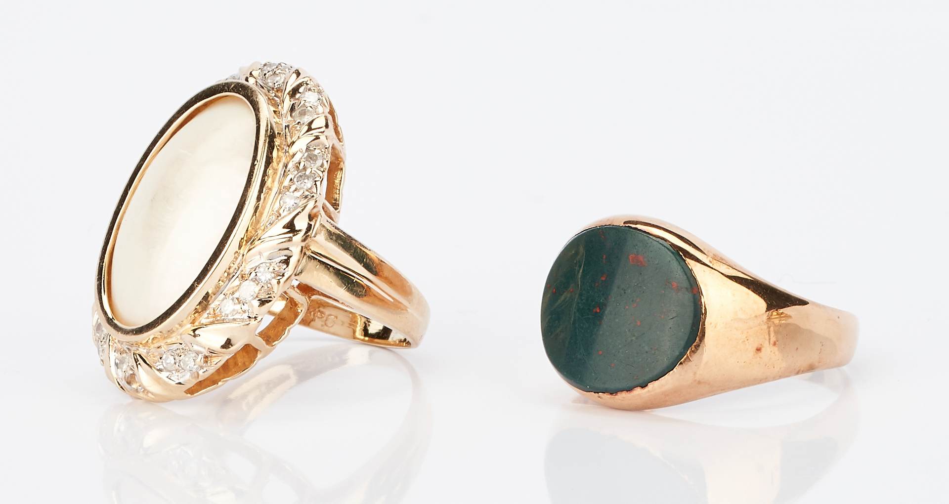 Lot 1006: 5 Ladies Gold and Gemstone Rings
