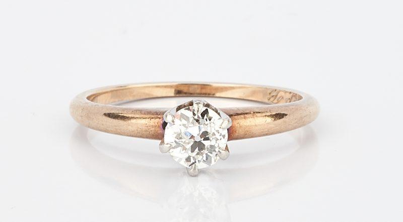 Lot 1010: Ladies 14K Engagement Ring