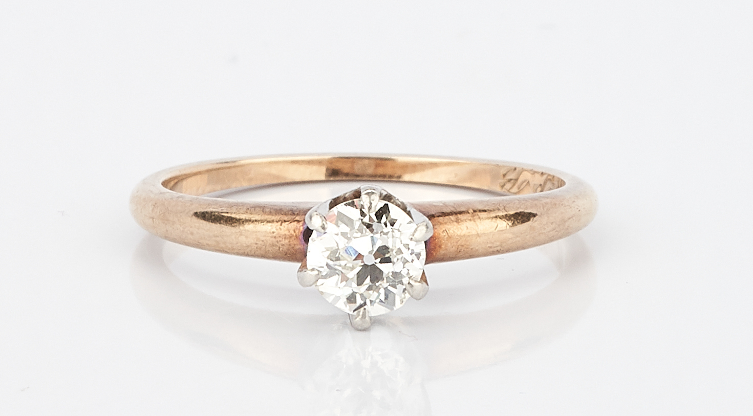 Lot 1010: Ladies 14K Engagement Ring