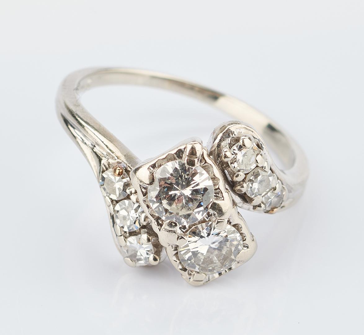 Lot 1018: Ladies 14K White Gold & Diamond Ring