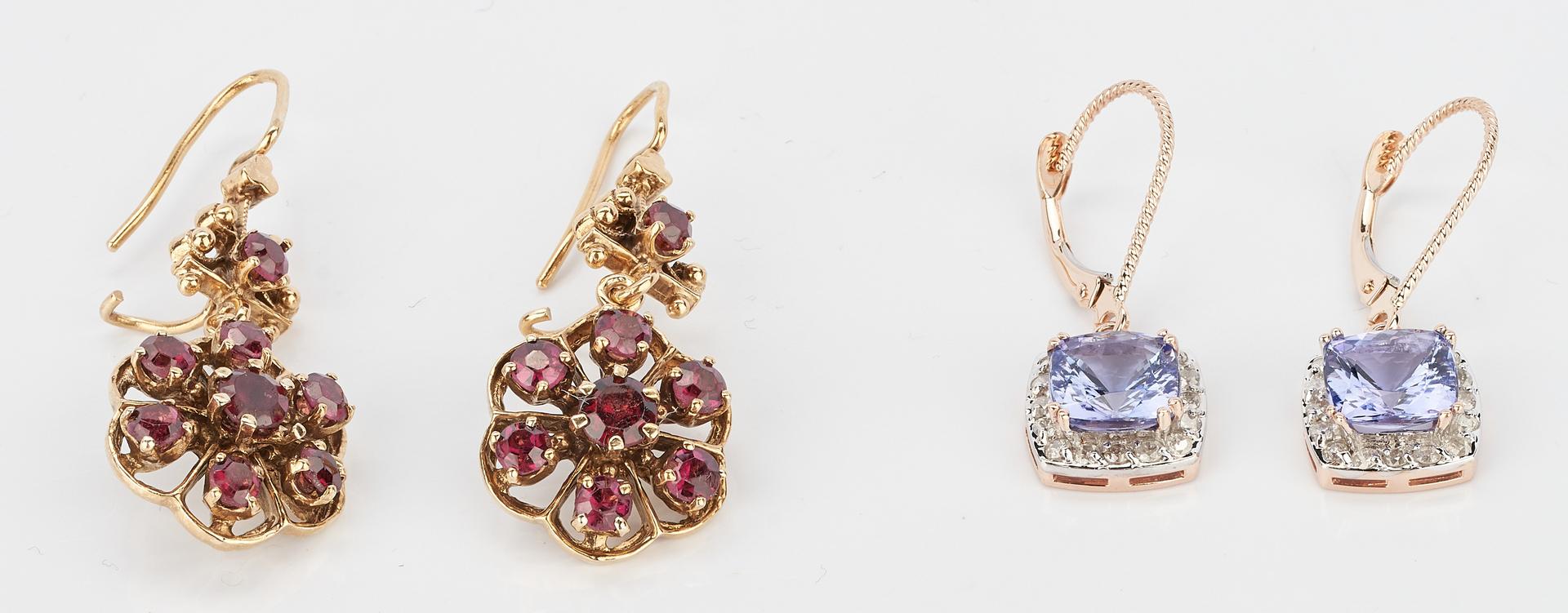 Lot 1019: 2 Prs. Earrings w/ Stones