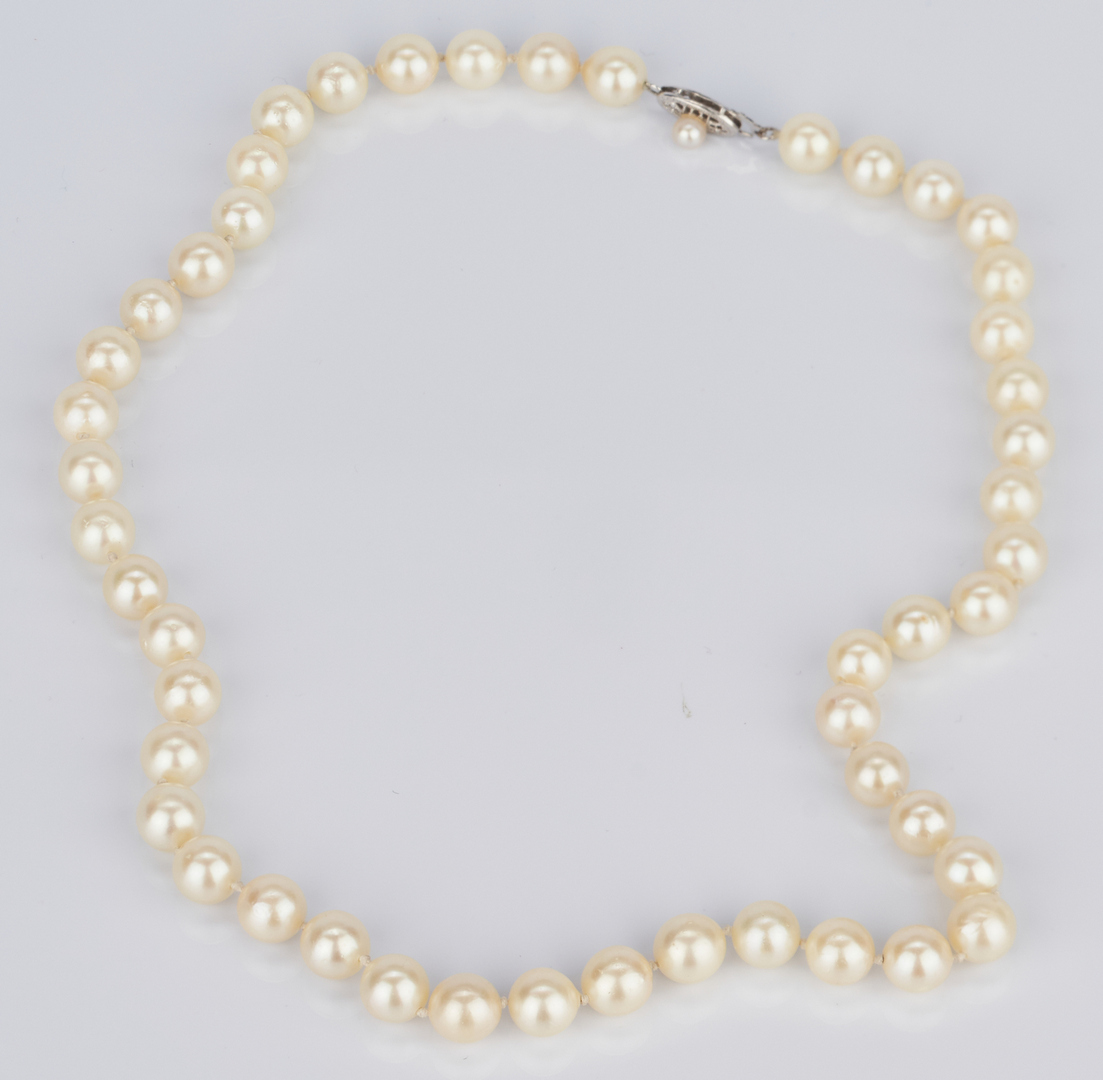 Lot 1023: Assorted Group 14K Pearl Jewelry Items
