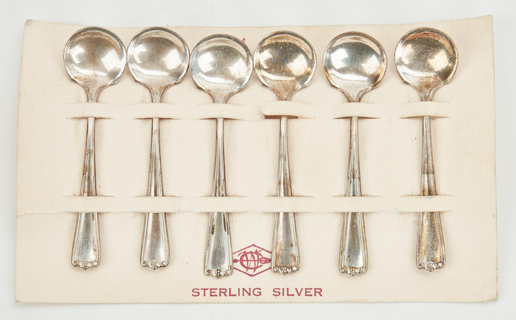 Lot 1028: 32 Pcs. Sterling Flatware, inc. Frank Smith Fiddle Thread