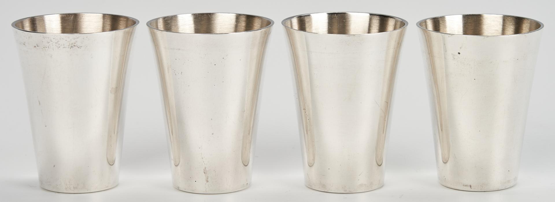 Lot 1030: 26 Sterling Champagnes, Cordials, Shot Glasses
