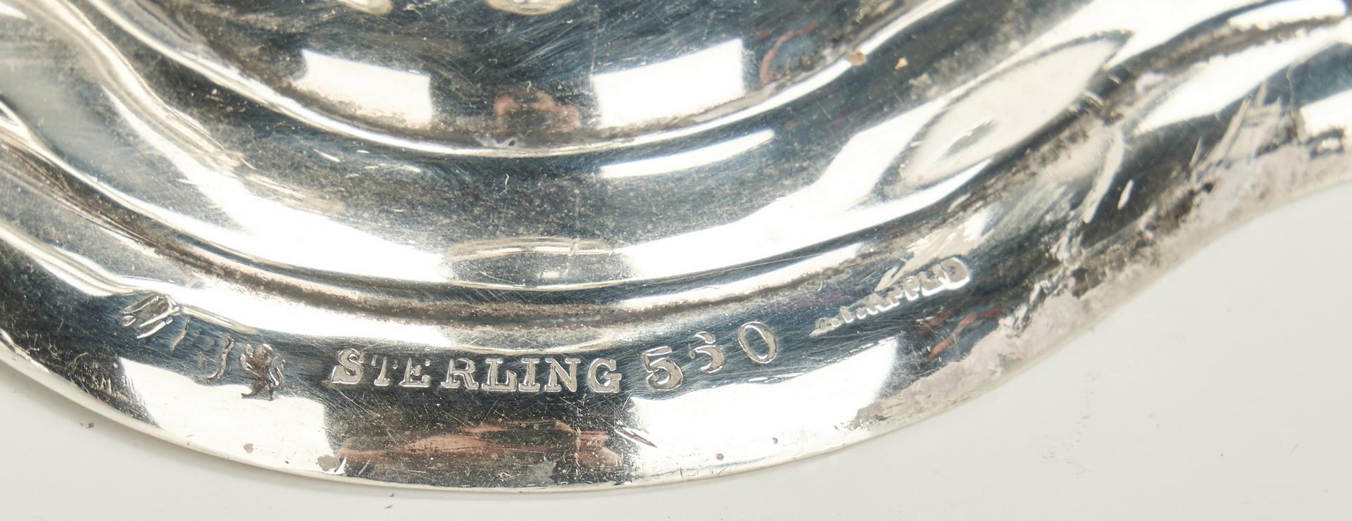 Lot 1031: Meridian Sterling Tray & Bowl, Pr. Reed & Barton Candlesticks, 4 pcs.