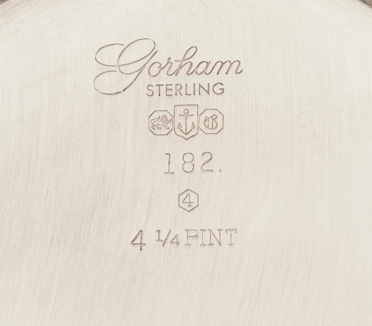 Lot 1032: Tiffany Trumpet Vase and Gorham Pitcher